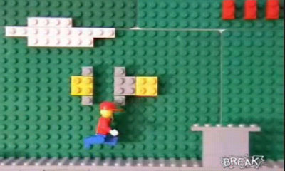 Super Mario Bros lego en stop motion